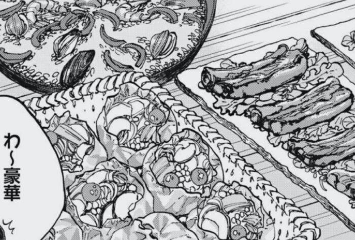 ざんげ飯感想「性と食を混ぜた気持ちの悪いグルメ冒涜漫画」の「性と食」を混ぜたことに対する怒りを説明するために入れている漫画の切り抜きの一部です。