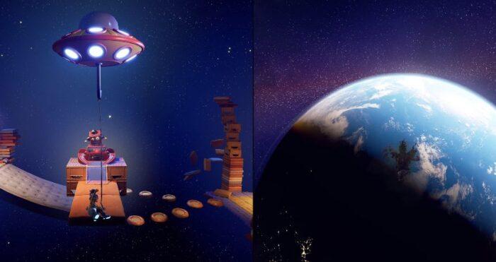 PS5 PS4 it Takes Two モンハンライズを越す高評価を獲得した『it Takes Two』とは離婚を切り出した両親の仲を修復させたいと願う一人娘の「願いと魔法」によって父コーディーと母メイの二人は娘が作った人形に入ってしまい二人の体を元に戻すために謎の本の力を借りて進んでいく協力アクションゲームです。